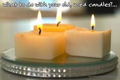 What to do with your old, used candles...all the DIY steps! - Sparkles In The Everyday