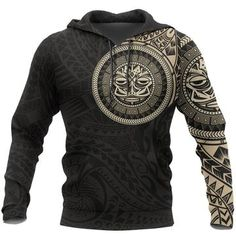 Polynesian Hoodie - Polynesian Flowers Tattoo Style Hoodie A7 1ST – Polynesian Print Polynesian Designs, Flower Tattoos, Hoodies, Sweatshirts, Print Design, Men Sweater, Just For You, Mens Fashion, Jacket