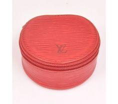 Louis Vuitton Red Epi Leather Ecrin Bijoux Jewelry Case