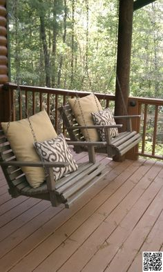 13. #Chair Swings - 25 #Relaxing Porch #Swings for Your Relaxing Pleasure ... → DIY #Oversized