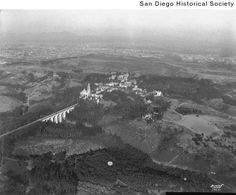 Aerial view of Balboa Park in 1915. (San Diego Historical Society)