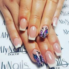 #french #nails #design #white #nailart #simple #lovely