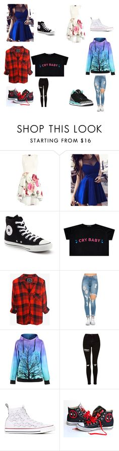 """Yasss"" by ilovemyhamstertobby on Polyvore featuring Converse, Rails and Topshop"