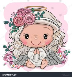 Find Vector Illustration Cute Cartoon Christmas Angel stock images in HD and millions of other royalty-free stock photos, illustrations and vectors in the Shutterstock collection. Thousands of new, high-quality pictures added every day. Angel Illustration, Angel Vector, Disney Cars Party, Cute Cartoon Girl, Hippie Art, Cute Cartoon Wallpapers, Christmas Angels, Cute Drawings, New Art