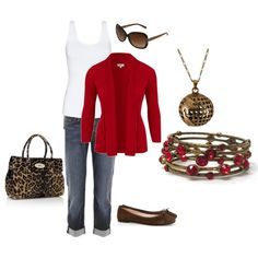 Red and Brown, created by melissa-bachman.polyvore.com