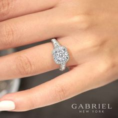 Uniquely beautiful engagement rings, wedding bands and fine jewelry from Gabriel New York!