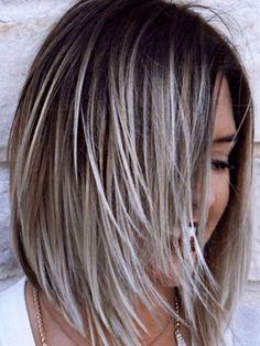 Highlight Bob, Blonde Highlights Bob, Silver Highlights, Edgy Bob Haircuts, Edgy Hairstyles, Long Bob Haircuts With Layers, Teenage Hairstyles, Layered Bob Hairstyles, Haircuts For Fine Hair