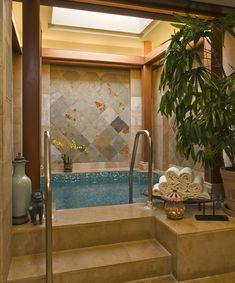 Dream home has to have an indoor jacuzzi like this one.
