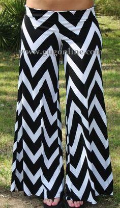 Walk This Way, Talk This Way Black Chevron Pants $34.95 www.gugonline.com