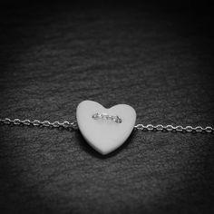 Vesna Garic | Bijoux d'élégance en porcelaine Pendentif ou bracelet Love.  Petit coeur de porcelaine
