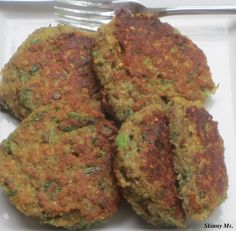#Zucchini - Lentil Zucchini Patties. Makes 10 pancakes for a great meal