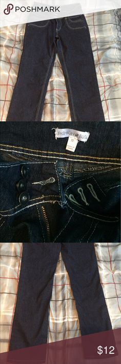 Fashion Bug dark jeans NWOT.  Tried on and didn't fit . Perfect condition. Jeans Straight Leg