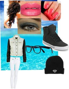 """Chillin"" by gisellesuarez16 ❤ liked on Polyvore"