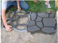 Do-It-Yourself Stone Walkways - I Love Decoration