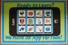 technology bulletin boards   Technology Themed Back To School Bulletin Board Idea