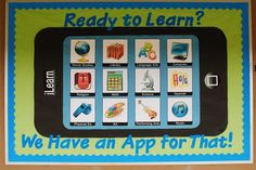technology bulletin boards | Technology Themed Back To School Bulletin Board Idea
