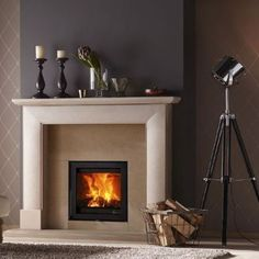 Inset Fireplace, Stove Fireplace, Fireplace Inserts, Fireplace Design, Classic Fireplace, Traditional Fireplace, Wood Burning Insert, Inset Stoves, My Home Design