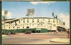 Postcard of Briggs Stadium (later Tiger Stadium) in Detroit, Michigan, Tiger Stadium, Sports Stadium, Detroit Tigers, Detroit Michigan, Detroit History, Snow Skiing, History Photos, Get Outside, Baseball Field
