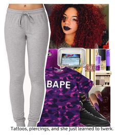 """Chilling"" by divap01 ❤ liked on Polyvore featuring NIKE, A BATHING APE and Forever 21"