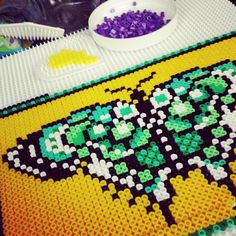 Butterfly hama beads by sandralouiseolsen