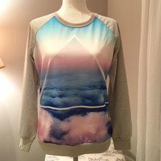 NWOT Sweatshirt Pretty, fun design. Never worn. No Trades. Price FIRM unless bundled. Tops Sweatshirts & Hoodies