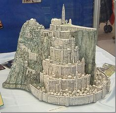 This is a CAKE -- no kidding! It's a Lord of the Rings Gondor cake!