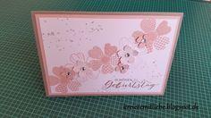 Blumengeburtstagskarte + Geschenktüte ~ Kreiere mit Liebe - Stempeln, Stanzen, Prägen und Co.
