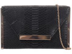 £15 Black Women Fashion, Womens Fashion, Black Clutch Bags, Print Box, Snake Skin, Fashion Accessories, Wallet, Chain, Pocket Wallet