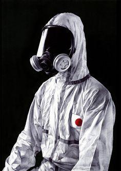 Artist Shohei Otomo  ''或る日本人の肖像''  Pen on paper