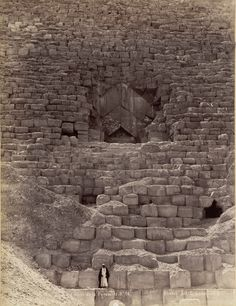 Entrance to the Great Pyramid, Giza