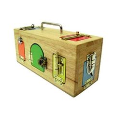 This is the same lock box as ours. Not cheap but a solid long lasting gift. From around 18 months +.
