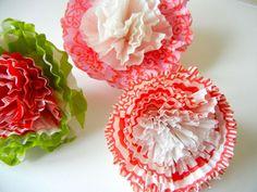 Cupcake liner bows