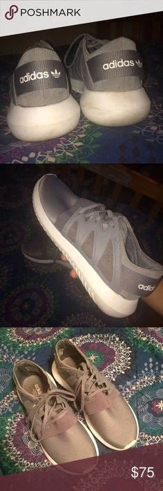 Adidas Tubular Viral Pretty good condition. I never wear them. Will clean them before shipment. Size women's 7, but they might be able to fit a 7 1/2 also. Adidas Shoes Sneakers
