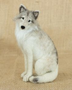 RESERVED FOR PAUL Cleopatra the Gray Wolf: by TheWoolenWagon