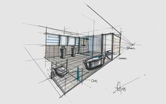 Haus Fu | Mayr & Glatzl Innenarchitektur GmbH Utility Pole, Detached House, Floor Layout, Sketches, Bath Room, Interior Designing