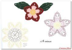 Delicadezas en crochet Gabriela: Catàlogo de flores con sus muestras tejidas