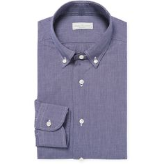 Antica Camiceria Men's Micro Grid Dress Shirt - Blue - Size 39 ($69) ❤ liked on Polyvore featuring men's fashion, men's clothing, men's shirts, men's dress shirts, blue, mens long sleeve shirts, mens blue shirt, mens patterned dress shirts, mens short sleeve dress shirts and mens long sleeve cotton shirts