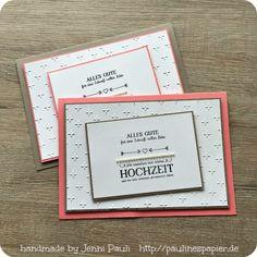 Hochzeitskarte Stampin'Up!  Jenni Pauli