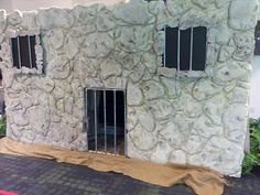 Paul's Jail. For VBS the tomb scene was altered to add a gate and two windows.