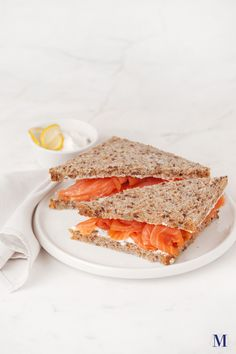 Smoked Salmon Tea Sandwich @ Lady M Confections in NYC Sandwiches For Lunch, Soup And Sandwich, I Love Food, Good Food, Yummy Food, Sweet Recipes, Yummy Recipes, Smoked Salmon Sandwich, Breakfast