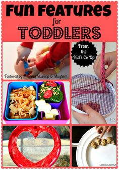 A collection of fun ideas and food for toddlers from the Weekly Kid's Co-Op...have you linked up this week?