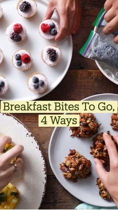 Finger Food Recipes, Fun Baking Recipes, Brunch Recipes, Snack Recipes, Dessert Recipes, Cooking Recipes, Breakfast Bites, Breakfast On The Go, Do It Yourself Food