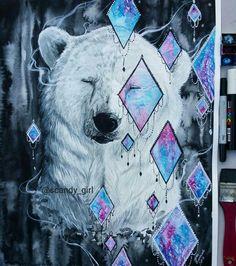 Polar bear Art by Jonna Lamminaho Instagram : scandy_girl