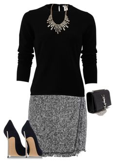 Fringe for the Office 3 by shanasark on Polyvore featuring polyvore, fashion, style, Oscar de la Renta, Casadei, Yves Saint Laurent, Charlotte Russe and clothing