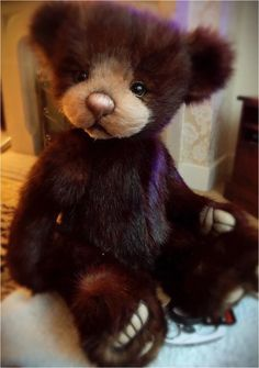 Adorable bear created by Three o'clock bears.