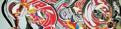 James Rosenquist 1997 Oil on canvas The Swimmer in the Econo-mist (painting 2)