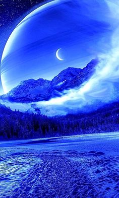 Beauty of nature Cute Galaxy Wallpaper, Night Sky Wallpaper, Planets Wallpaper, Wallpaper Space, Scenery Wallpaper, Wallpaper Backgrounds, Beautiful Nature Pictures, Beautiful Moon, Fantasy Art Landscapes