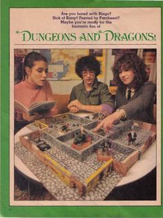 Dungeons and Dragons Ad in Magazines