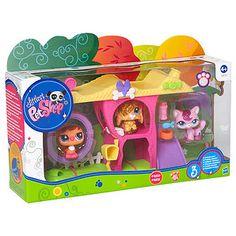 Littlest Pet Shop Mini Play Set With Sparkle Pets - Target