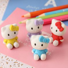 Kawaii Hello Kitty Shape Eraser Rubber Eraser Primary Student Prizes Promotional Gift Stationery KCS
